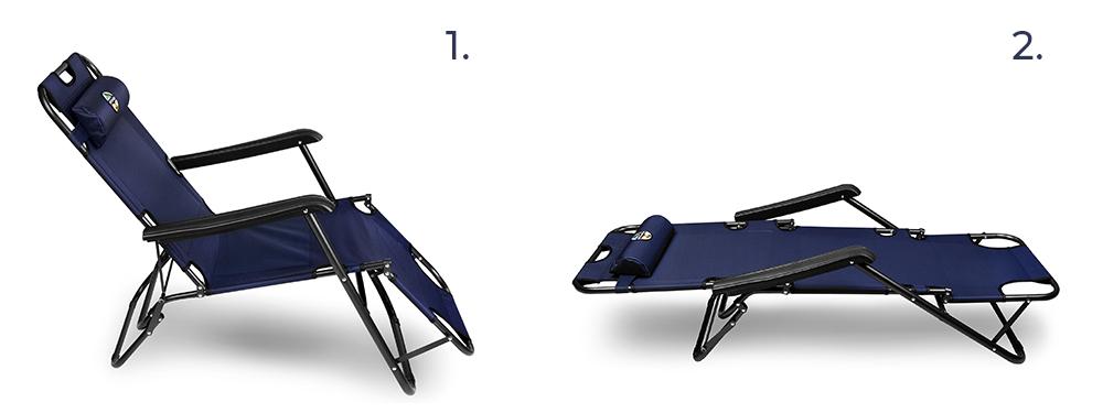 Skládací outdoorové křeslo / lehátko Spokey Tampico 2v1