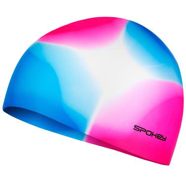 Spokey ABSTRACT-Plavecká čepice silikonová růžovo-modrá