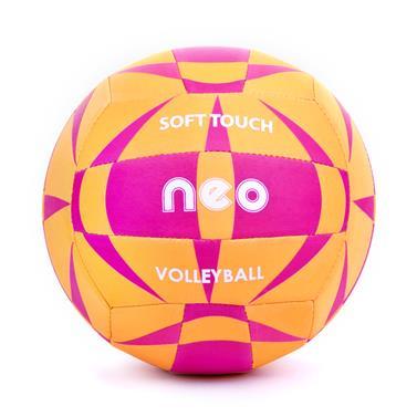 Spokey NEO SOFT neoprenový volejbalový  míč oranžovo-růžový vel. 5