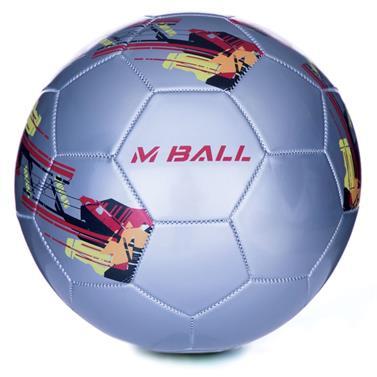 Spokey MBALL fotbalový míč stříbrný vel.5