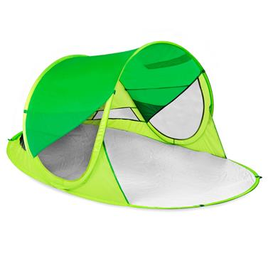 Spokey STRATUS Samorozkládací outdoorový paravan, UV 40, 195x100x85 cm - zelený