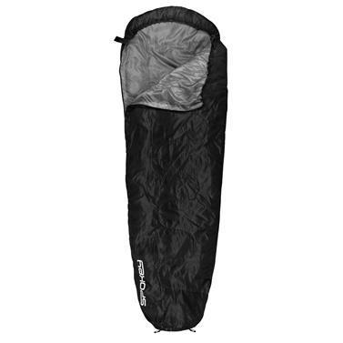 Spokey GLOBTROTTER Spací pytel mumie černý, pravé zapínání