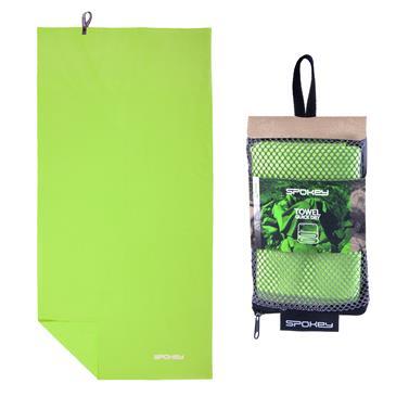 Spokey SIROCCO M Rychleschnoucí ručník 40x80 cm, zelený s odnímatelnou sponou
