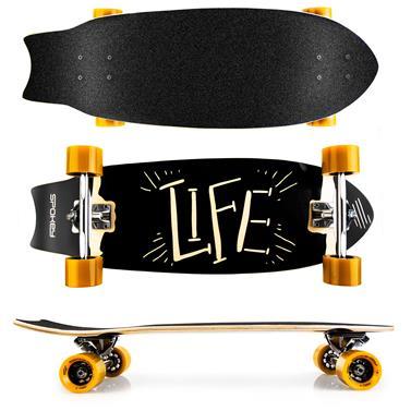 Spokey LIFE Longboard 67,5 x 25,5 cm, ABEC7
