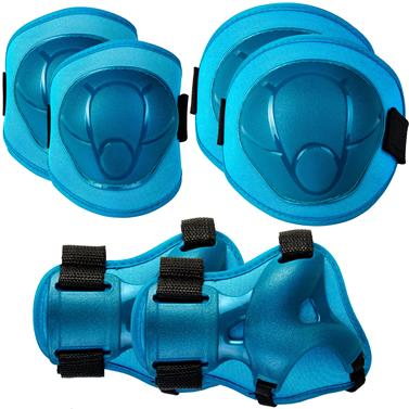 Spokey BUFFER - 3-dílná sada dětských chráničů, modré, vel. S