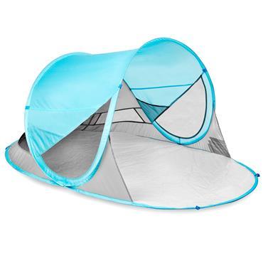 Spokey STRATUS Samorozkládací outdoorový paravan, UV 40, 195x100x85 cm - světle modrý
