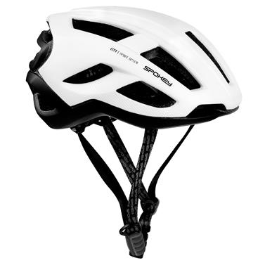 Spokey CITY Cyklistická přilba pro dospělé a juniory  IN-MOLD, 58-61 cm, bílá