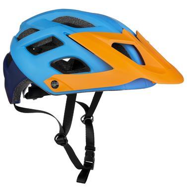 Spokey SINGLETRAIL Cyklistická přilba pro dospělé a juniory  IN-MOLD, 58-61 cm, modrá