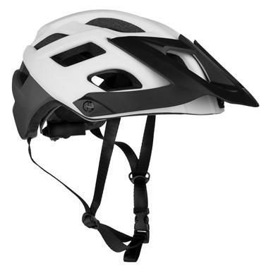 Spokey SINGLETRAIL Cyklistická přilba pro dospělé a juniory  IN-MOLD, 55-58 cm, bílá
