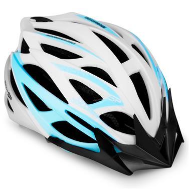 Spokey FEMME Cyklistická přilba pro dospělé a juniory IN-MOLD, 55-58 cm, bílá