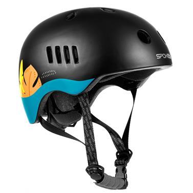 Spokey PUMPTRACK Juniorská cyklistická BMX přilba IN-MOLD, 54-58 cm, černo-modrá
