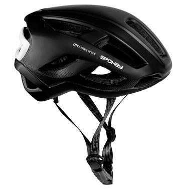 Spokey CITY Cyklistická přilba pro dospělé a juniory  IN-MOLD, 55-61 cm, černá