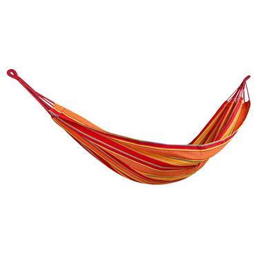 Spokey IPANEMA Houpací síť do 120 kg, červeno-oranžová