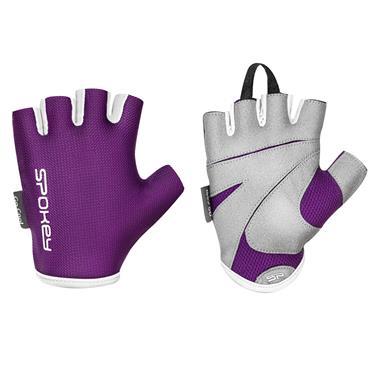 Spokey LADY FIT Dámské fitness rukavice, fialové, vel. M