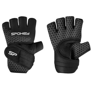 Spokey LAVA Neoprenové fitness rukavice, černo-bílé, vel. M