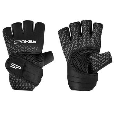 Spokey LAVA Neoprenové fitness rukavice, černo-bílé, vel. L
