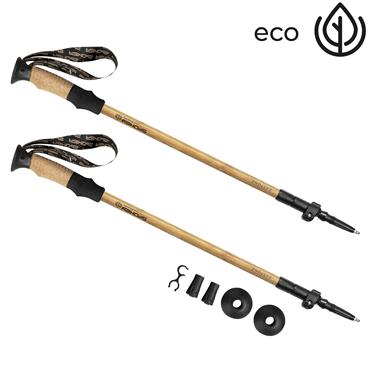 Spokey EKO FRIENDLY BASTONE Trekingové hole, 3-dílné, z přírodního bambusu